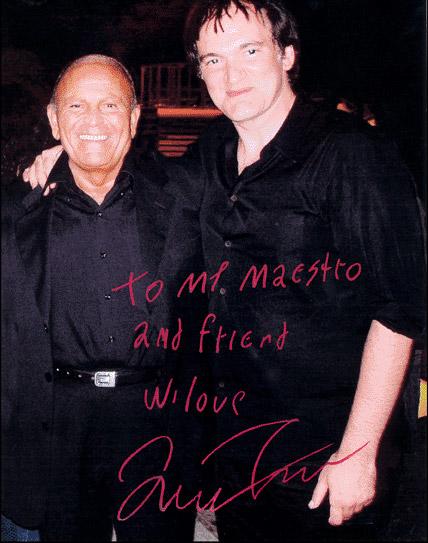 Enzo G. Castellari con Quentin Tarantino, da sempre suo ammiratore.